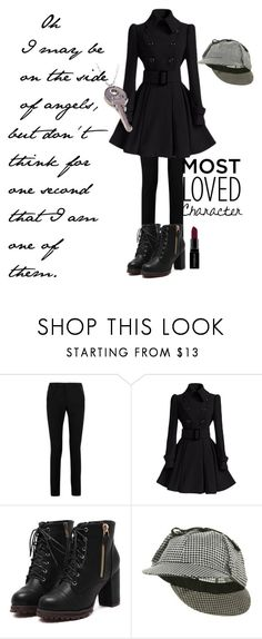 """""""Sherlock Holmes"""" by sparkles-and-wine ❤ liked on Polyvore featuring Yves Saint Laurent, Jacobson Hat Company, Smashbox, contest, quote, sherlock, sherlockholmes and GenderSwitch"""