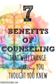 Ever assume counseling wouldn't benefit you? Here are seven benefits of counseling that will inspire you to go TODAY. Mental Health Benefits, Mental Health Resources, Counseling Quotes, Premarital Counseling, Therapy Quotes, Health Psychology, Daily Positive Affirmations, Negative Emotions, Mental Health Awareness