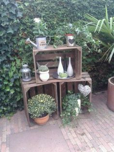 Wooden Crate for Balcony Garden - Balcony Decoration Ideas in Every Unique D., DIY Wooden Crate for Balcony Garden - Balcony Decoration Ideas in Every Unique D., DIY Wooden Crate for Balcony Garden - Balcony Decoration Ideas in Every Unique D. Diy Wooden Crate, Wooden Crates, Old Boxes, Deco Floral, Garden Boxes, Diy Garden Decor, Balcony Decoration, Balcony Garden, Planter Boxes