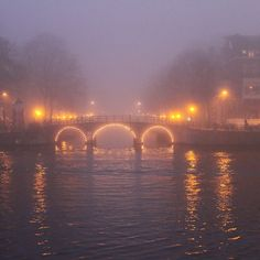 There's something about Amsterdam that's even more charming in the winter fog. Photo courtesy of renedescendres on Instagram.