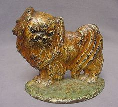 hubley cast iron pekingese dog c1905 doorstop