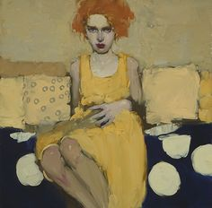 Golden Dress / oil / 16 x 16 in. / $8800 Milt Kobayashi