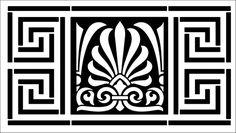 Border No 3 stencil from The Stencil Library online catalogue. Buy stencils online. Stencil code ER3.
