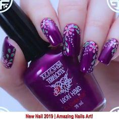 30 Amazing Nailart Ideas That Are Beautiful Beyond Words - Style O Check New Nail Art Design, New Nail Designs, Nail Art Designs Videos, Nail Art Videos, Cute Nail Art, Beautiful Nail Art, Nail Manicure, Nail Polish, Colorful Nail Art