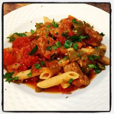 Simple Spicy Sausage Penne