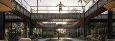 outdoor swimming pool splits alexis dornier's 'bond house' in two in bali