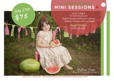 fun child photography in north carolina high point burlington greensboro winston-salem watermelon portrait photos