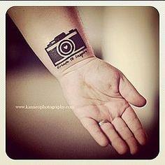 My Camera Tattoo I got for valentines Day kamieo