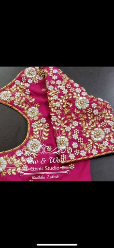 Best Blouse Designs, Wedding Saree Blouse Designs, Blouse Neck Designs, Embroidery Neck Designs, Embroidery Works, Zardosi Work Blouse, Maggam Work Designs, Hand Designs, Maggam Works