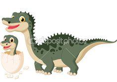 Динозавр мать с ребенком инкубационные
