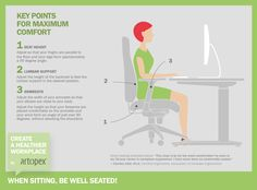 Create a healhier workplace with Artopex - When sitting, be well seated! Key points for maximum comfort and the best ergonomic seated position while working at the computer.