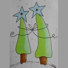 Best wishes / Tekenen Diy Xmas, Christmas Cards To Make, Xmas Cards, Christmas Art, Christmas Projects, Watercolor Christmas Cards, Christmas Drawing, Christmas Paintings, Diy And Crafts
