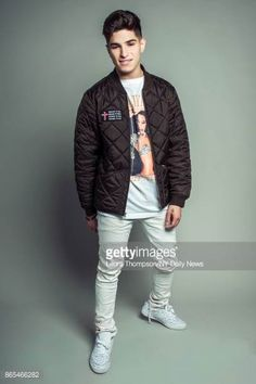 Boy band PrettyMuch singer Nick Mara photographed for NY Daily News on October 2 in New York City