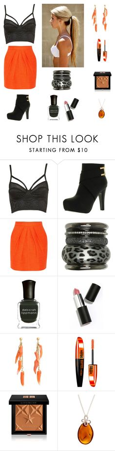 """Sin título #537"" by aolivero ❤ liked on Polyvore featuring Top Moda, Tamara Mellon, Wet Seal, Deborah Lippmann, Sigma, Helen Ringus, L'Oréal Paris, Givenchy and Be-Jewelled"