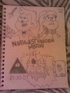Northwest Mansion Mystery Drawn by @DisneyFaller