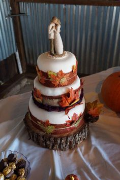 OMG this is our wedding cake topper, The Promise, love this cake too!! See more...