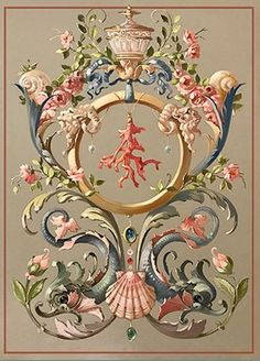 28 Baroque Ornament Art Ideas - New Chinoiserie, Arte Fashion, Ornament Drawing, Baroque Pattern, Grisaille, Arabesque, Islamic Art, Art Nouveau, Tapestry