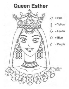 Queen Esther Free Bible Coloring Pages, Free Coloring, Reine Esther, Preschool Bible Lessons, Queen Esther, Church Nursery, Two Fish, Bible Stories, Sunday School