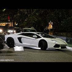 Aventador by Night Lamborghini Supercar, Monte Carlo, Cars And Motorcycles, Dream Cars, Super Cars, Vehicles, Instagram Posts, Night, Garage