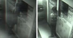 CCTV Seems To Capture #Ghost Or Time Traveler Passing Through Door Of Closed Store