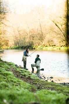 Best proposal ever. Fly fishing! www.janelleelise....