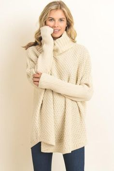 Coffee Shop Chunky Sweater  sweater Beige Sweater 4b75493bd