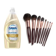 Use dishwashing liquid to break down the oils in makeup brushes