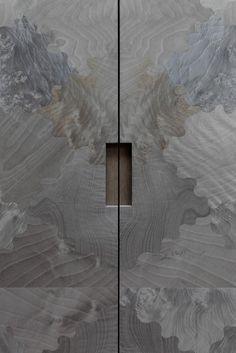grey burr walnut veneer || #Luxury #Developments | Portfolio | INTERIOR-iD