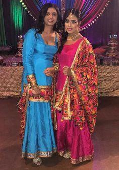 Desi Wedding Dresses, Sikh Wedding, Indian Wedding Outfits, Bridal Outfits, Punjabi Wedding, Indian Suits, Punjabi Suits, Indian Wear, Phulkari Suit