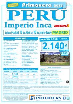 PERÚ Imperio Inca, sal. 20/05 al 10/06 desde Madrid (14d/12n) p.f. 2.650€ - http://zocotours.com/peru-imperio-inca-sal-2005-al-1006-desde-madrid-14d12n-p-f-2-650e/