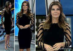 moda do programa Domingo Espetacular - look da Fabiana Scaranzi dia 25 de maio