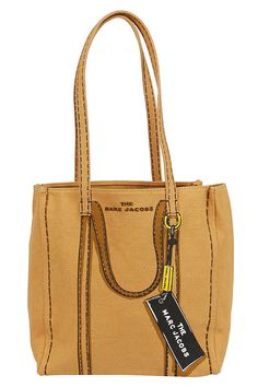 Shop Marc Jacobs The Tag Tote 27 Bag and save up to EXPRESS international shipping! Marc Jacobs Bag, Sierra Leone, Hand Bags, World Of Fashion, Luxury Branding, Laos, Reusable Tote Bags, Beige, Products