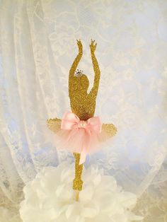 Ballerina Cake Topper - Ballerina Cupcake Toppers - Ballet Event - Ballet Decorations - Custom - Small Cake - Birthday Party - Girl Ballet