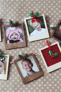 Polaroid Picture Garland {Christmas Gift Tutorial}. LOVE this idea for a gift or decor! #MichaelsChristmas