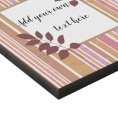 Trendy stripes with area to write your text panel wall art - stripes gifts cyo unique style