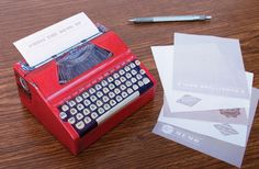 Presenting Typewriter Paper, for all the typewriter lovers out there.