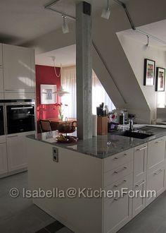 grifflose häckerküche mit halbinsel und bora | kitchen | pinterest, Moderne deko
