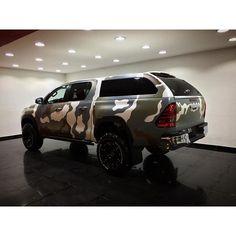 Toyota Hilux ~ Camouflage #toyota #hilux #tsk #handmade #carwrap #camouflage #supercars #gmggarage ...