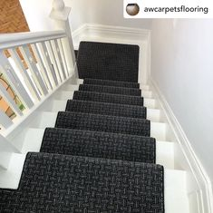 House Stairs, Carpet Stairs, Carpet Flooring, Axminster Carpets, Carpet Installation, Painted Stairs, Grey Carpet, Hallway Decorating, Geometric Designs