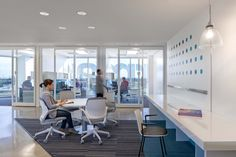 Another meeting space with offices in the background with great views of the Fort Lauderdale area.