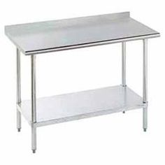 Seville Classics Commercial Stainless Steel Top Worktable NSF - 18 wide stainless steel work table