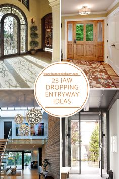These 25 jaw dropping entryways show that no spot in your house should be left neglected. Rustic Wall Art, Diy Wall Art, Diy Wall Decor, Diy Home Decor, Reclaimed Wood Floors, Creative Wall Decor, House Entrance, Large Homes, Home Decor Inspiration