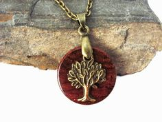 Tree of Life Eco Friendly Necklace Bronze Charm by Hendywood, $20.00