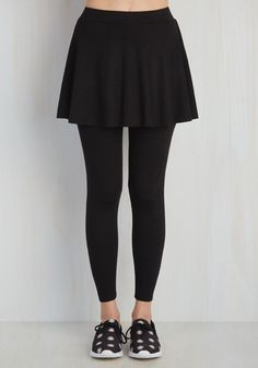 Skirt With the Idea Leggings in Black.