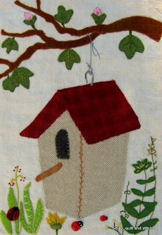 Scrap,quilt and stitch: Quilt mystère 3 : Birdhouses' lane