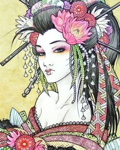 """Geisha"" By Paimonerra From Seductive Geisha Digital Art Inspiration on nenuno creative"