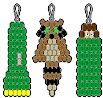 Pony Bead Patterns - my Girl Scouts love to do these! All kinds on this site! Pony Bead Patterns, Craft Patterns, Beading Patterns, Pony Bead Projects, Pony Bead Crafts, Plastic Bead Crafts, Bead Animals, Girl Scout Activities, Beading For Kids
