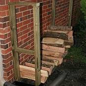 DIY Outdoor Firewood Storage Rack