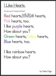 great Valentine's fluency poem - use with conversation hearts: