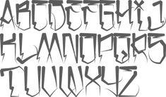 Graffiti Tattoo, Chicano Tattoos Lettering, Tattoo Lettering Styles, Graffiti Drawing, Tattoo Script, Script Lettering, Lettering Design, Graffiti Lettering Alphabet, Tattoo Fonts Alphabet